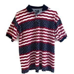 Men's American flag colored polo shirt